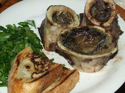 cooked marrow bones
