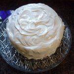 Chocolate Birthday Cake with Vanilla Frosting